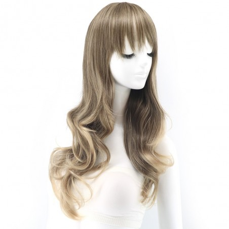 Nora - Lockig brun peruk